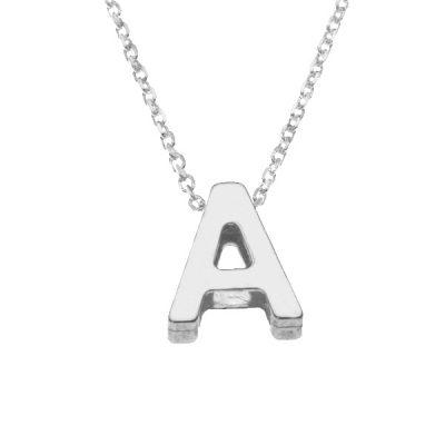 Collar Letters A en plata de ley