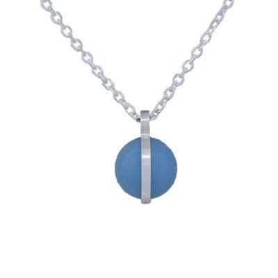 Collar Symbols en plata con perlas Sw Turquoise