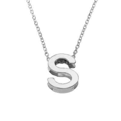 Collar Letters S en plata de ley