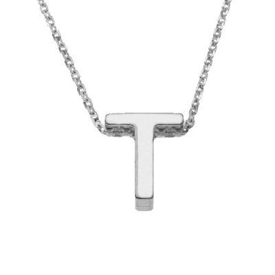 Collar Letters T en plata de ley
