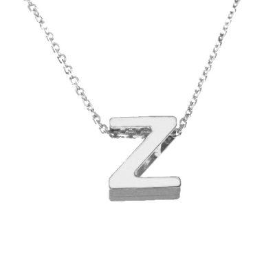 Collar Letters Z en plata de ley