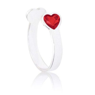 Anillo Sweet girl love de plata - Red