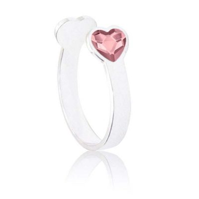 Anillo Sweet girl love de plata - Antique Pink