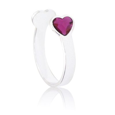 Anillo Sweet girl love de plata - Fuchsia