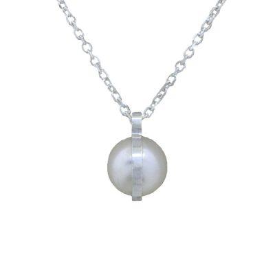 Collar Symbols en plata con perlas Sw White