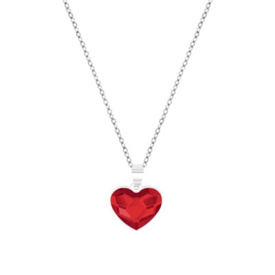 Collar Sweet girl love de plata - Red