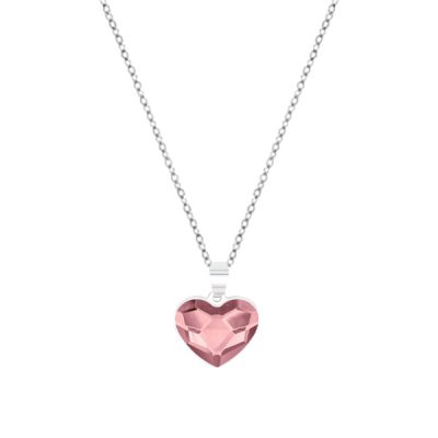 Collar Sweet girl love de plata - Antique Pink