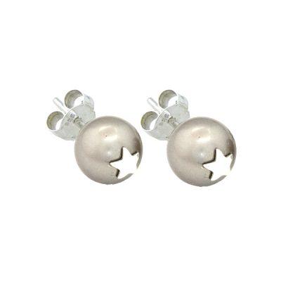 Pendientes Symbols en plata con perlas Sw Platinium