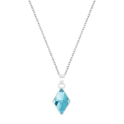Colgante Rhombus de plata - Light Blue