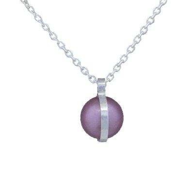 Collar Symbols en plata con perlas Sw Rosaline