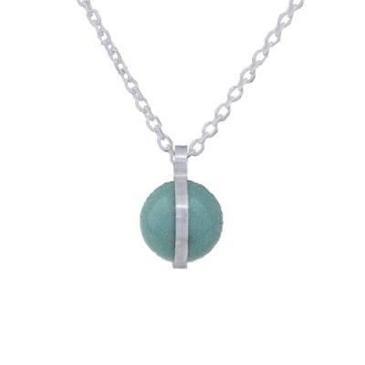 Collar Symbols en plata con perlas Sw Jade