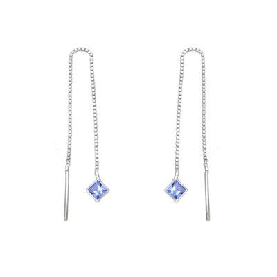 Pendiente rombo - Light Sapphire