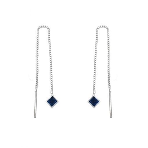 Pendiente rombo - Sapphire