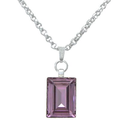 Collar Polygon - Light Amethyst
