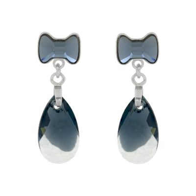 Pendiente Sweet Girl Denim Blue + Crystal Mont Blend