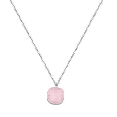 rose water opal con cadena